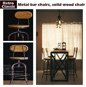 Vintage Metal Bar Chair - Paruse