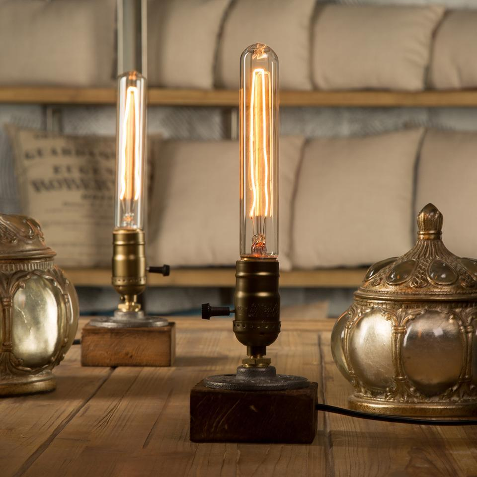 Loft Vintage E27 Holder Edison Bulb Table Lamp. - Paruse