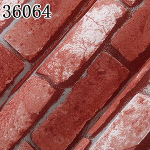 Modern Vintage Brick Textured Wallpaper - Paruse