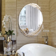 Feather Oval Anti-fog Mirror for Bathroom - Paruse