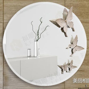 Acrylic Round Wall Mirror for Bathroom. - Paruse