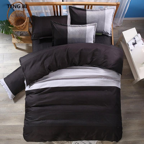 TENG BI brand hot stripe simple fashion design bedding set - Paruse