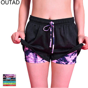 Women's 2 In 1 Running Tights Shorts - Paruse