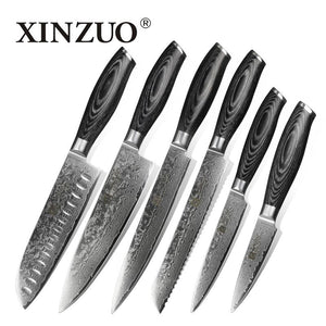 XINZUO 6 pcs kitchen knives set