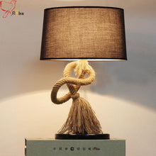 Country style creative hemp rope desk lamp. - Paruse