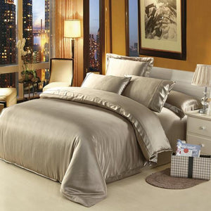 100% mulberry silk bedding 6 pieces set. - Paruse