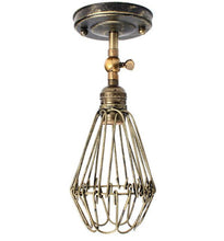 Classic Black Bulb Wire Lamp Cage - Paruse