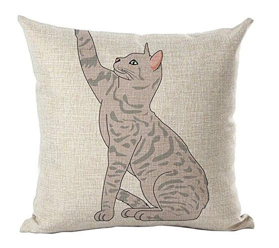 Cute Cat Posture Decorative Pillow Cover - Paruse