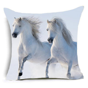 Wild Horse Photos Throw Pillow Cover. - Paruse