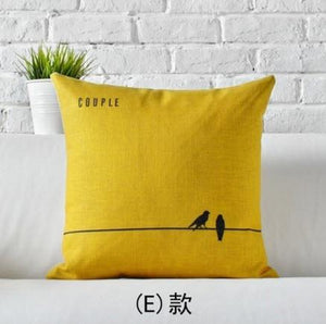 Pop Northern European Modern Love Decorative Vintage Pillow Cover - Paruse