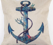 Series Of Ship Anchor Logo Decorative Pillows - Paruse