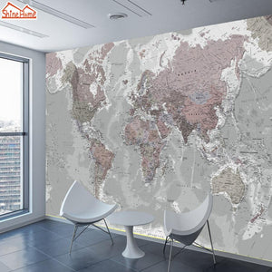 ShineHome-Large Custom 3D Picture Wallpaper World Map Painting - Paruse