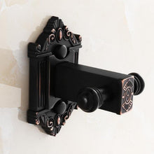 Black Antique Carved Bathroom Hardware Set - Paruse