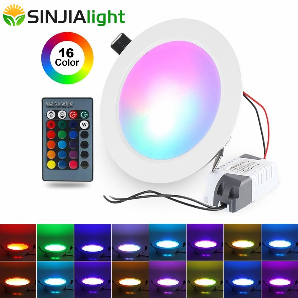 5W 10W RGB LED Panel Light With Remote Control - Paruse
