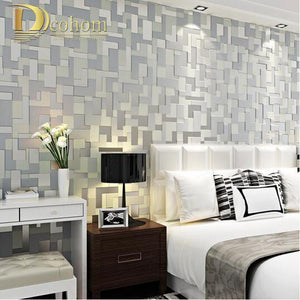 High quality 3D Mosaic Lattice Wall paper - Paruse