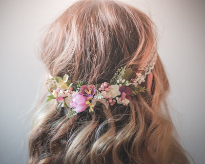 Valentine's Day Gift Ideas for Her: Silk Floral Accessory Crowns