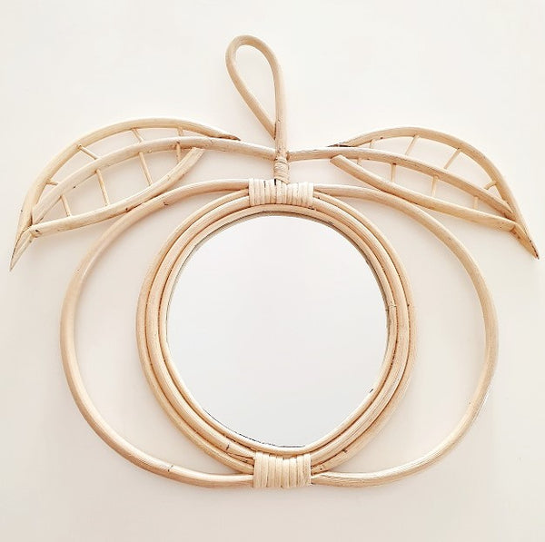 Olivia Apple Rattan Mirror