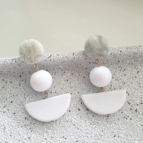 Grace Geometric Earring, Earrings - The Happy Beach