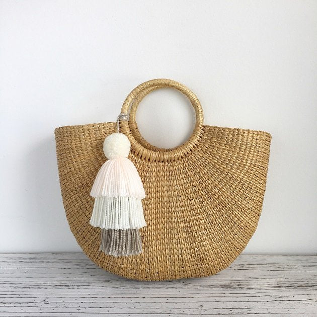 Cressia Straw Bag With Tier Tassel, Bags - The Happy Beach