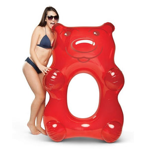 Giant Gummy Bear Pool Float (Red), Pool inflatables - The Happy Beach