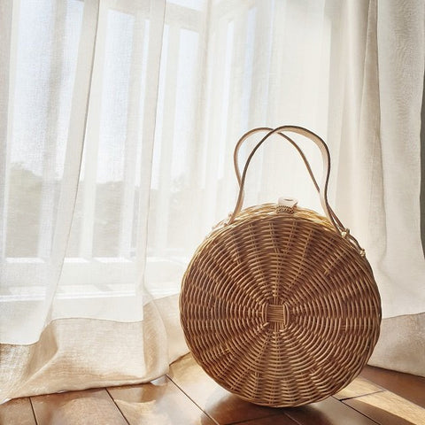 Seche Rattan Roundie, Bags - The Happy Beach