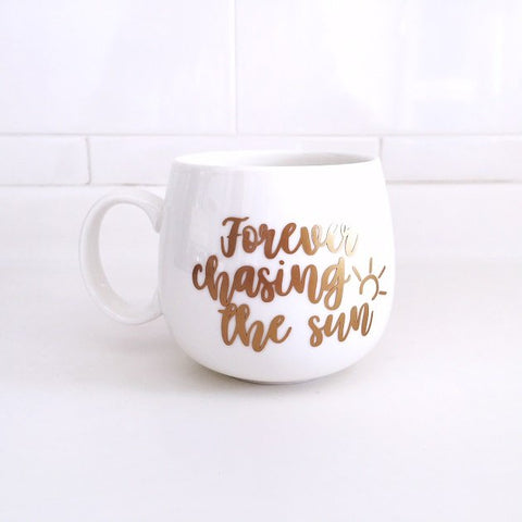 Forever Chasing The Sun Mug, Tablewares - The Happy Beach