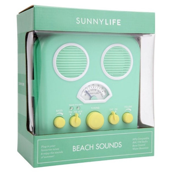 Sunnylife Beach Sounds MP3 Radio (Turquoise), Decor - The Happy Beach