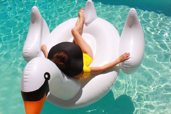 Giant Swan Float, Pool inflatables - The Happy Beach
