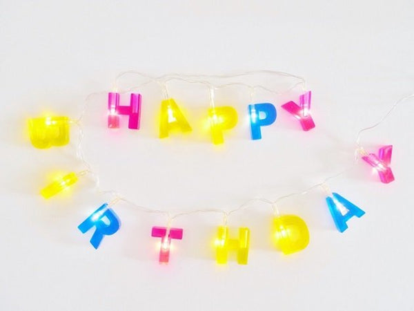 Happy Birthday LED Lights (Multi Colours),  - The Happy Beach