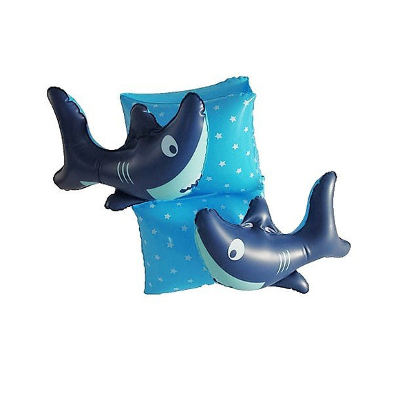Sharky Inflatable Arm Band, Pool inflatables - The Happy Beach