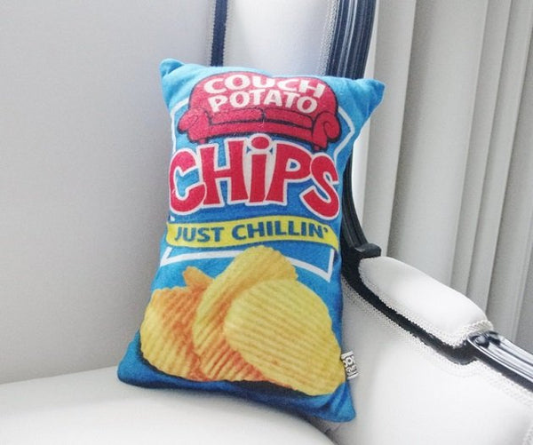 Potato Chips Plush Cushion, Cushions - The Happy Beach
