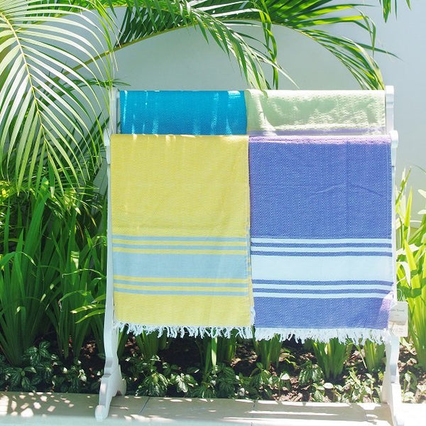 Cotton Beach Towel (Green), Towels - The Happy Beach