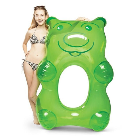 Giant Gummy Bear Pool Float (Green), Pool inflatables - The Happy Beach