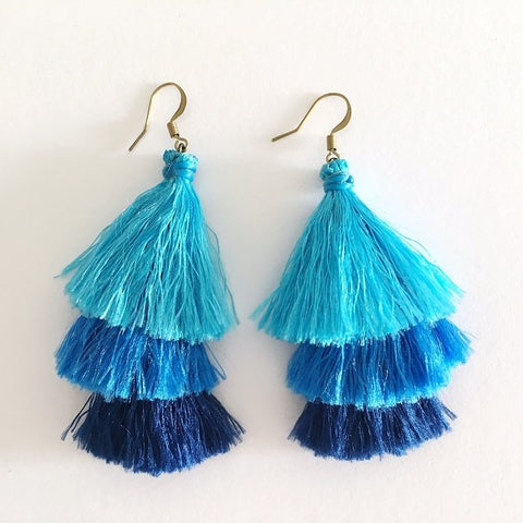 Ombre Tassel Earring, Earrings - The Happy Beach