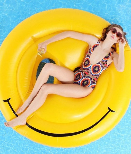 Smiley Face Island Pool Float, Pool inflatables - The Happy Beach