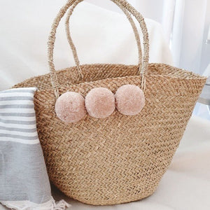 Cayman Pom Pom Tote, Bags - The Happy Beach