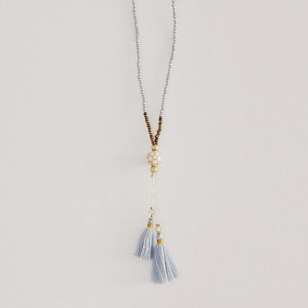 Gypsy Duo Tassels Necklace,  - The Happy Beach