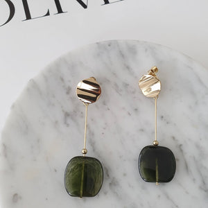 Kyra Earrings (Forest Green)