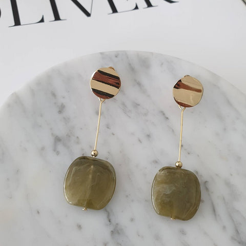 Kyra Earrings (Olive)
