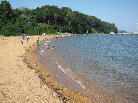 With both saltwater and freshwater beaches, Betterton Beach offers something for everyone. (Credit: Art Anderson on Wikipedia)
