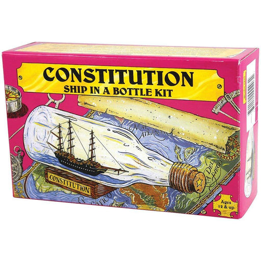USS Constitution Build-Your-Own Ship in a Bottle Kit Toy Cape Shore