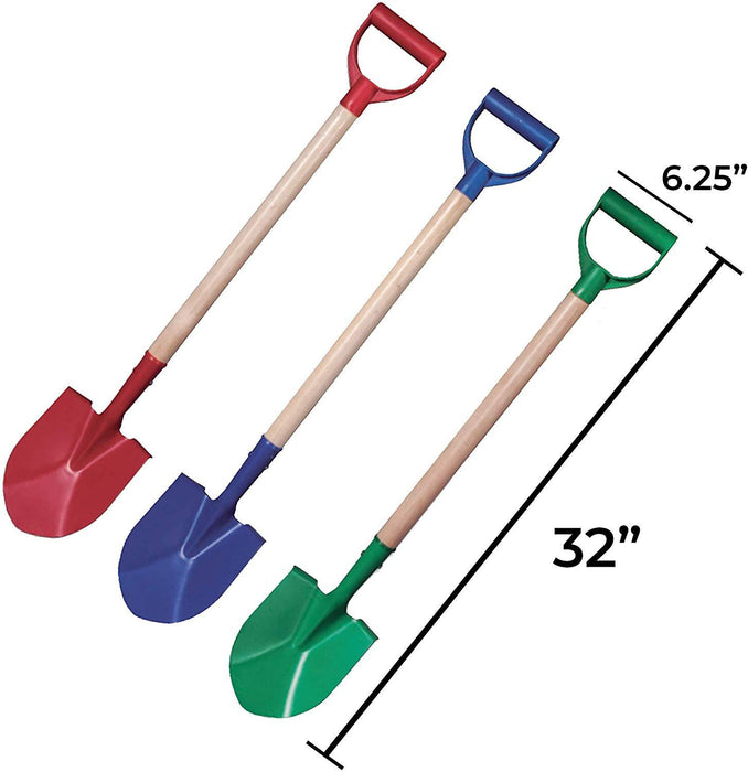 Beachgoer Pack of 3 32-Inch Metal Heavy Duty Beach Shovels