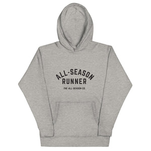 All-Season Runner: Unisex hoodie (Sport Grey or White) - The All-Season Co.