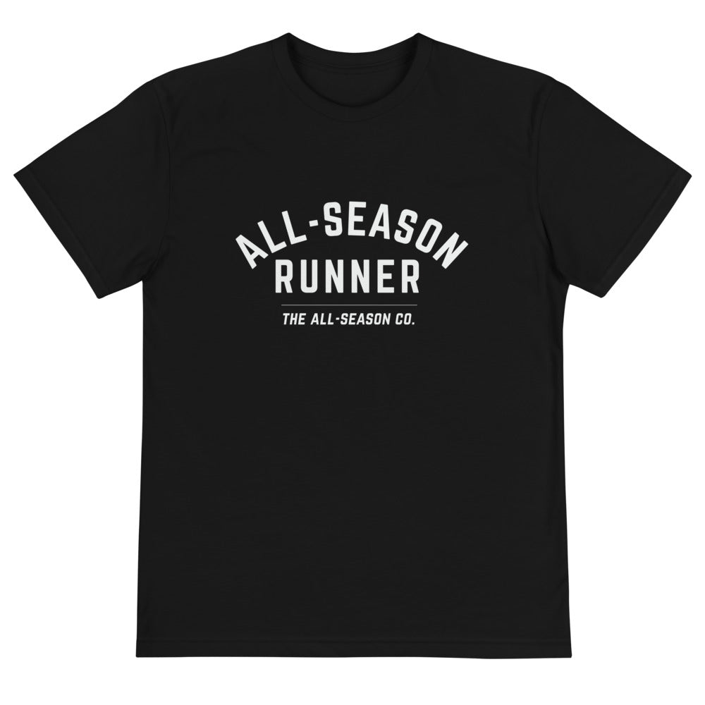 All-Season Runner: Eco Performance Tee in Black