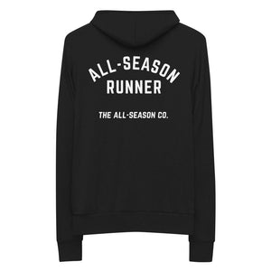 All-Season Runner: Unisex Zip Hooded Sweatshirt