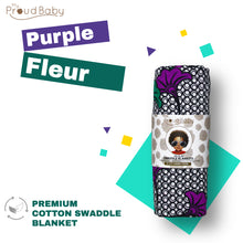 Load image into Gallery viewer, Purple Fleur Swaddle