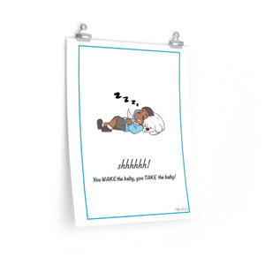 Don't Wake the Baby Nursery Poster