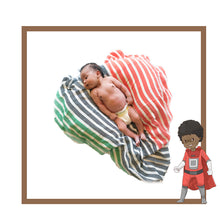 Load image into Gallery viewer, Pan- African Flag Swaddle