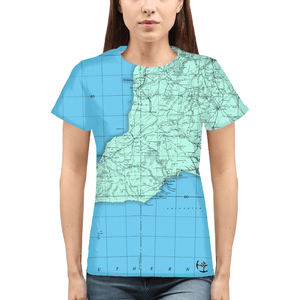 Barker Australiayy Womens All-Over Print  T-Shirt