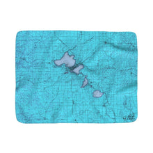Yahara River Valley Sherpa Fleece Blanket